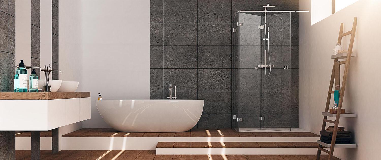 Einbaubeispiel Duschbeschläge